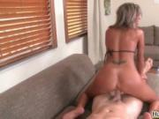 Lucky young guy gets his dick fucked hard by a hot milf