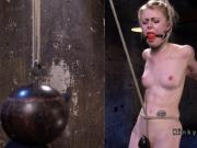 Blonde gets wighted crotch rope
