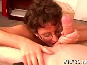 It's big cock day for milf