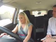 Bad blonde driver bangs examiner