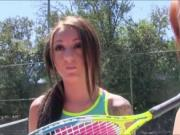 Redhead teenie screwed by tennis coach
