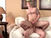 Travis James pumping away Chris Harder hard cock