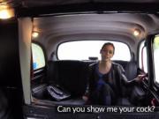 Brunette tourist banged in London fake cab