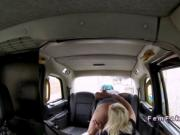 Blonde lesbo sitting on face on cab driver
