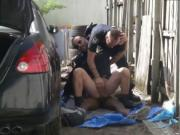 Men sucking male cops dick and police fuck young movie
