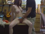Cute chubby brunette Jenny Gets Her Ass Pounded At The