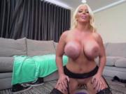 Big bum mom and pal's crony Step Mom's New Fuck Toy