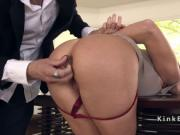 Movie director whips hot ass blonde