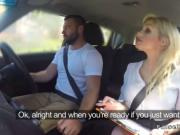 Big tits blonde driving examiner fucking