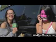 Crazy Face Paint Blowjob For Money!