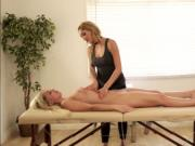 Horny Officer Madelyn wants a hot sex while on massage
