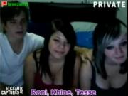 three friends on cam
