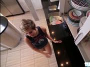 Cute and bubble ass Mickey fucked by dude and moans in