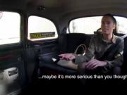 Abigail Ash invites the taxi driver in the backseat for