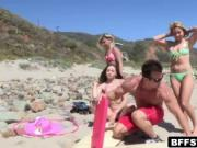 Surfing teens turns to crazy fucking