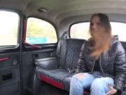 Divorced Czech babe fucking in fake taxi
