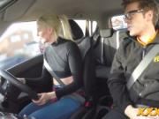 Blonde Lexi Lou gets banged during driver test