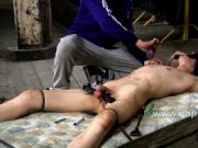 Hot twink Calvin Croft endures a painfull CBT