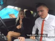 Driving examiner looks at huge boobs