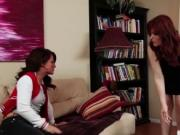 Brunette Casey Cumz gets fucked by a Redhead Hot Milf H