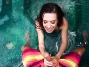 Slut teen Ariel Grace having sex in the pool