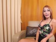 Ladyboy rides dick and moans