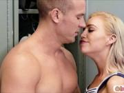 Hot blonde Arya Fae take a free ride and gets fuck
