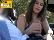 Busty Babe Ashley Adams Strokes Guy's Dick And Gets Fuc