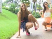 Two sexy girls having fun