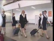 Sexy airline stewardess groped in the bus Part 1