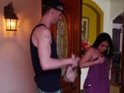 Cindy Starfall fucking the delivery guys huge cock