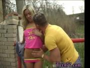 She male teen Josje drilling her paramour outdoors