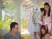 Avi Love drilled by pervert easter bunny