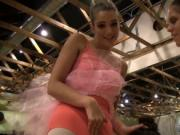 Real amateur teen babysitter first time Ballerinas