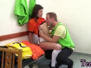 Teen gives blowjob Dutch football player pulverized by