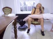 Germany milf and almost caught squirting by mom Rebecca