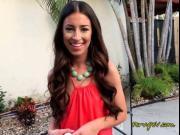 Latin Beauty Cameron Canela Sucks Neighbors Big Cock