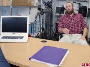 Bearded dude is bored at his new job interview