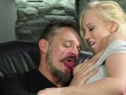 Blonde babe Bailey pounded hard by an old guy