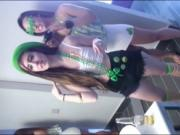 Teen besties enjoyed nasty groupsex in St Patricks Day