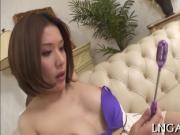 Slut mom loves playing with dildos