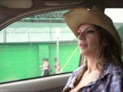 Sexy cowgirl Dillion Carter pussy fucked with stranger