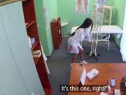 Doctor banging student nurse