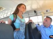 Teen schoolgirl Kacy Lane fucked by the school bus driv