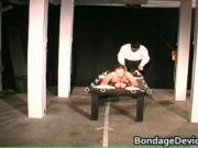 Arms & blowjob Stockaded 4 by bondagedevicevideos