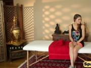 Sensual boob massage makes this brunette vixen super ho