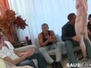 Group of horny guys crave for cock 3 by CockSausage