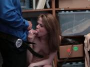 Amateur thief Alina fucks for freedom