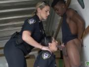 Blonde interracial police and curves Black suspect take