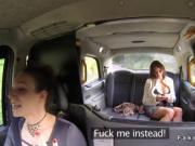 Alt cab driver fingers busty amateur lesbian